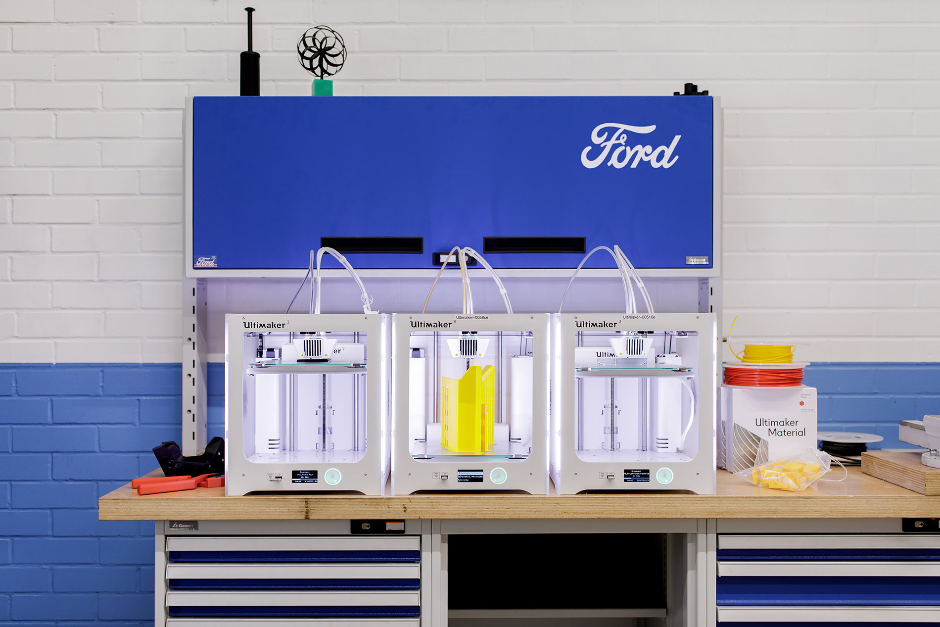 Ford started with the Ultimaker 3 before adding Ultimaker S5's