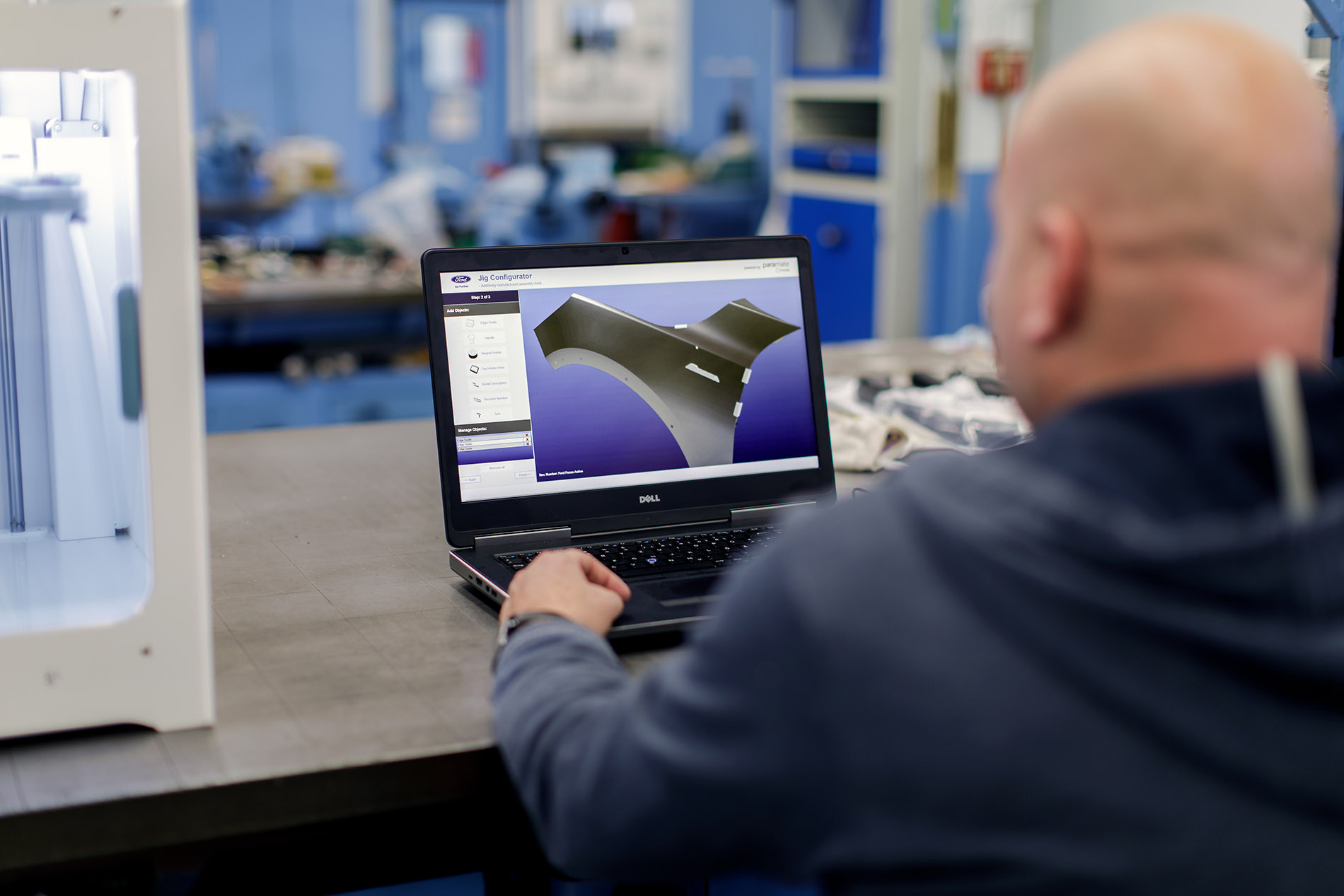 Trinckle's software enables workers to generate tools which can be directly sent to the Ultimaker 3D printer