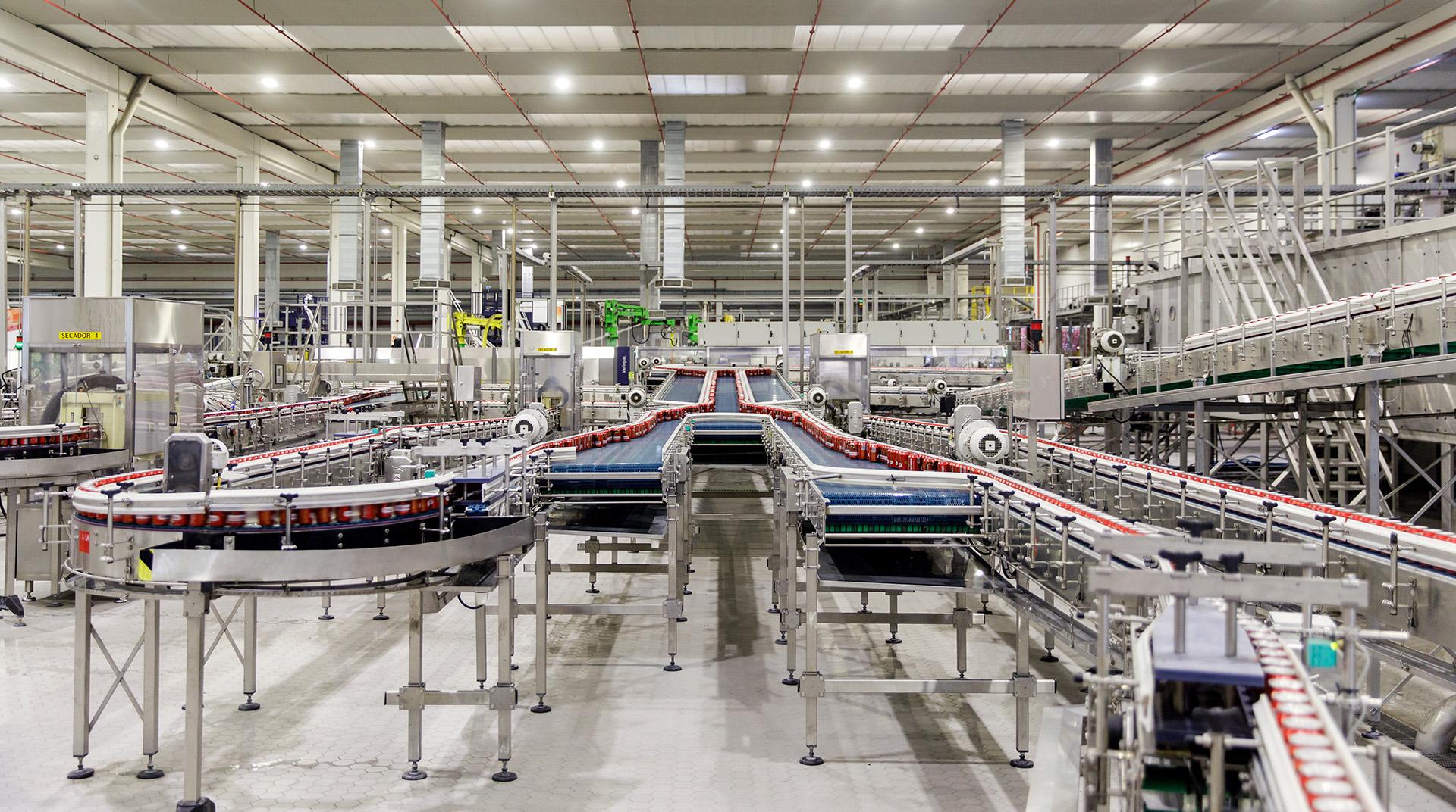 Heineken manufacturing line Seville spain