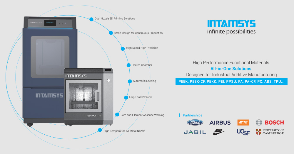 INTAMSYS 3D printers: the affordable solution for 3D printing PEEK and high performance polymers